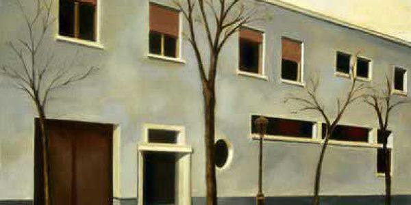 Vivienda Díaz Caneja. 2005. Óleo sobre tabla. 30 x 40 cm.