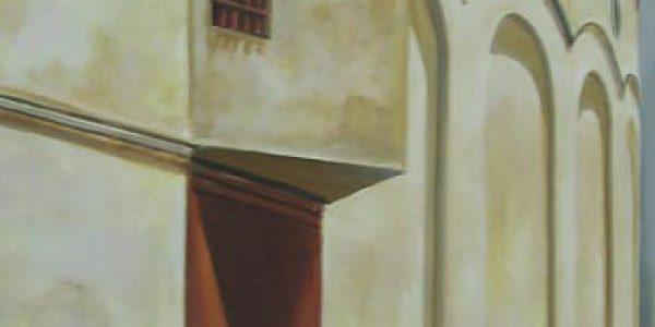 Teatro. Óleo/tela. 61×41 cm