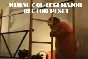 Mural Col·legi Major Rector Peset